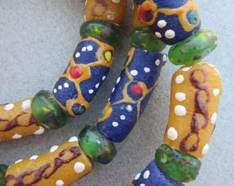 Mixed Krobo Glass Beads [68322]