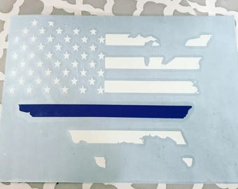 Back the blue- USA- LEO- Police decal