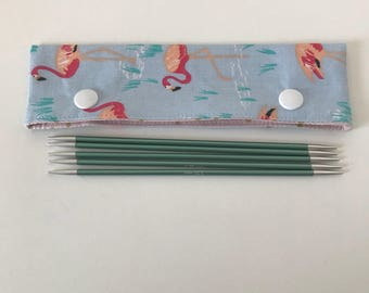 Flamingo Needle Cosy, DPN Needle Minder, DPN Needle Minder, Circular Needle Minder, Circular Needle Cosy, DPN holder