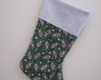 Dancing Cats in Hats Christmas Stocking
