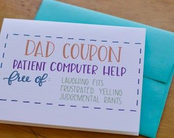 Dad Coupon Card