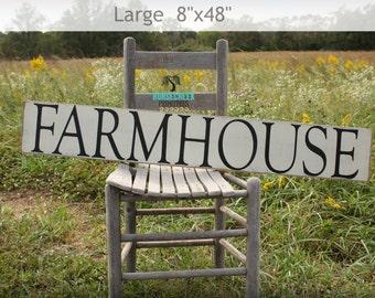 Rustic Home Decor, 8x48, Modern Farmhouse, White Sign