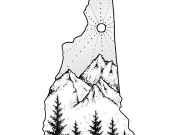 New Hampshire 5x7 Print