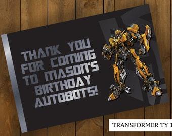 Transformers Birthday Thank You Card