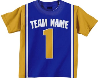 Personalized Basketball Shirt - Personalized Team  T-Shirt Jersey - Any Color - Any Name