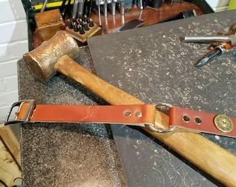 Leather bird dog collar