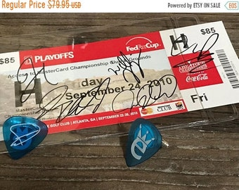 SALE 20% OFF Collecting Soul - Guitar Pick Cufflinks & autographed ticket