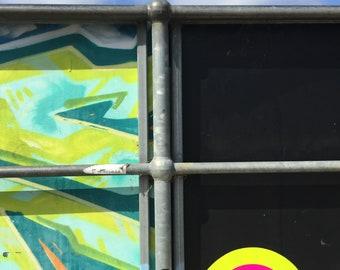 giclee print - rainbow street art photo -portals of hope