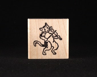 "Cat and the Fiddle (1.3"" x 1.5"")"
