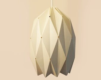 Deep Sea Diver lampshade, paper folding, D.I.Y origami for the ceiling