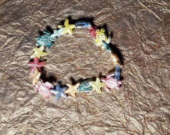 Turtle/Starfish stretch cord bracelet