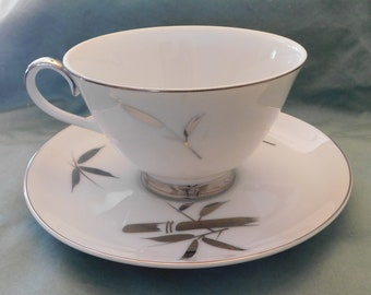 Royal Song Silver Beauty fine China - Cup and Saucer
