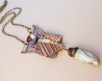 Metal Book Pendant Necklace, Book Jewelry