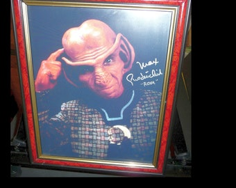 "STAR TREK Deep Space Nine Genuine Signature Of ""ROM"" The Brother Of ""Quark"" And Father Of ""Nog"" Portrayed By Actor Max Grodénchik."