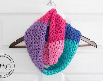 PDF Crochet Pattern - Berry Cakes Infinity Scarf
