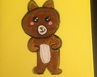 Hand Painted Baby Bear
