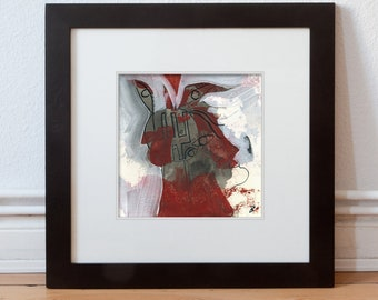 """Image """"evil powers"""" 15/15 cm (5.9/5.9 inch)/abstract Force-Gestalt"""