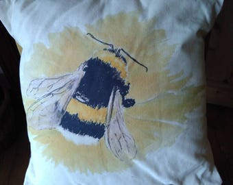 Bumble Bee on a flower, cushion
