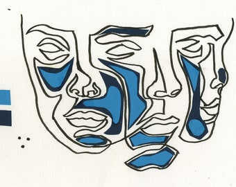 Abstract Minimalist Print