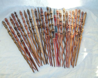 PAIR of Random Hand Carved Magic Wands SALE