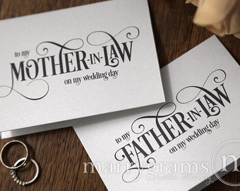 Wedding Card to Your Future Mother and Father in-law - Parents of the Bride and Groom Cards Mother-in-Law Gift Idea - CS06