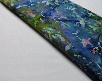 Marcus Brothers Batik No.12 Blue Green Cotton Quilting Sewing Textiles Cotton Batiks Funky Blue