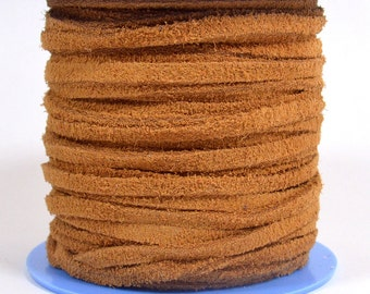 4mm Flat Suede Lace - Camel - 4MF-5 - Choose Your Length