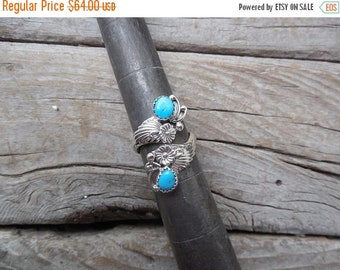 ON SALE Adjustable turquoise ring handmade in sterling silver 925 with Sleepin Beauty turquoise