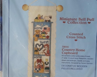 Dimensions 72016 Country Home Cupboard Designed by Daniel Gorman Stitchables Miniature Bell Pull Counted Cross Stitch Kit