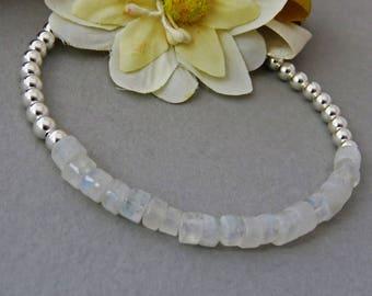 Opal Bracelet, White Opal Bracelet, Genuine Opal Bracelet, Sterling Silver Bracelet, Gemstone Jewelry, White opal  Jewelry