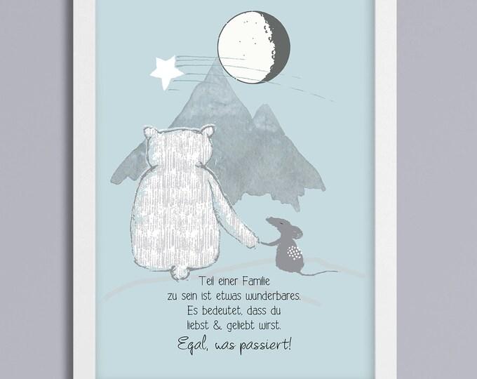 Bear and mouse - unframed art print