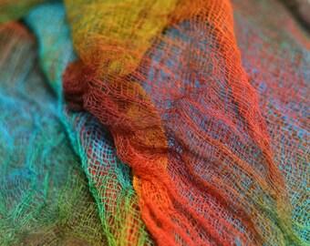 Cotton scrim muslin gauze cheesecloth nuno felting supply