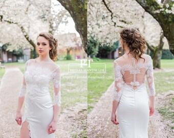 Lace Wedding Bolero, Bolero Top, Custom Wedding Bolero, Bolero Bridal Top, Bridal Shower Gift,wedding shrug, Bridal Shrug, Bridal Topper