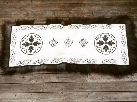 Hand made sheepskin rug long throw double rug for recliner, garden swing or bench