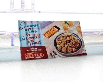 Vintage 1940 Cookbook Nestle's Chocolate Cookies Recipe Booklet