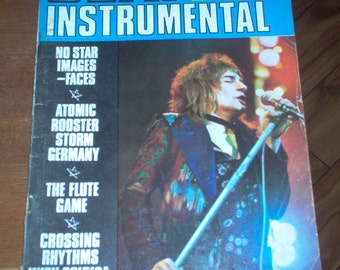 Beat Instrumental Magazine 1972 The MC5 Faces YES Rick Nelson Ginger Baker UK Original Rock Music Teen Collectible Rare
