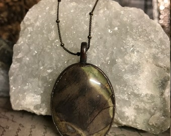 Rainforest Jasper Electroformed Copper Pendant