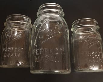 Antique Ball Perfect Mason Jars - Set of 3