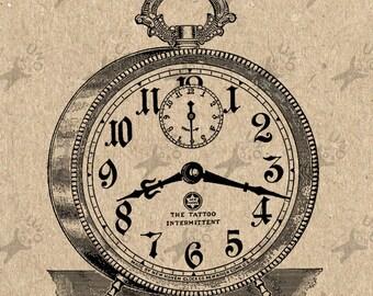 Vintage Alarm Clock image Instant Download printable Vintage picture clipart digital graphic scrapbooking, burlap,stickers, decor etc 300dpi
