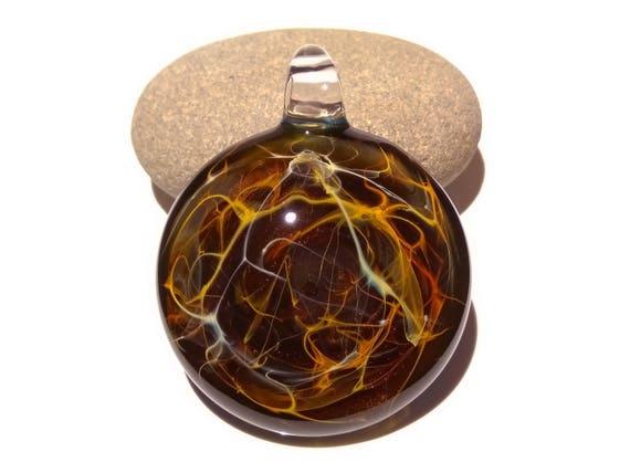 Heady Earth Necklace - Boro - Blown Glass Pendant - Lampwork - Glass Jewelry - Free Shipping - Universe - Heady Glass - Ready to ship!!