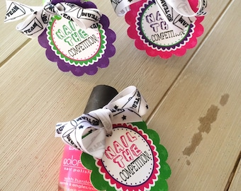 Cheerleading Good Luck Favor Tags- Dance Team Gifts, Team Gifts PDF file Instant Download Nail The Competition