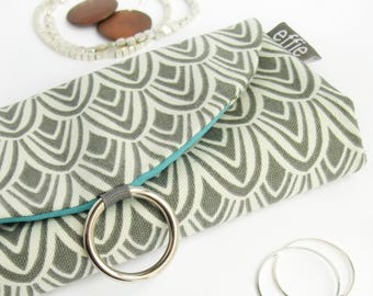 Travel Gifts for Women. Charcoal + Teal Jewelry Travel Organizer. Earring Organizer. Bridesmaid Gift. Travel Jewelry Holder. Travel Case