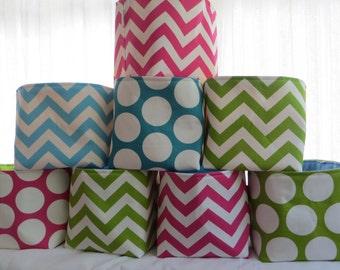 Storage bin, toy storage, girl storage, 8 x 8 x 8 Choose your fabric