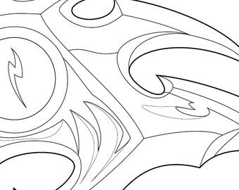 Kayn's Scythe (Rhaast) - Darkin Version Prop Blueprint (League of Legends)