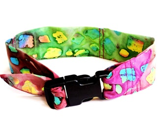Batik Dog Cooler Collar Bandana, Pet Neck Cooling Band, Fabric Stay Cool Wrap Collar Buckle Adjustable Size Small 10 to 14 inch iycbrand