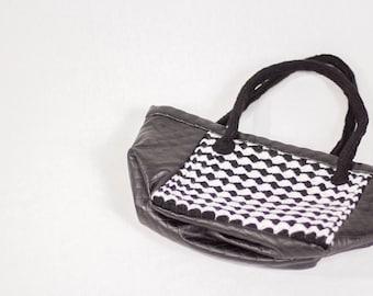 GL Crafts: Handbag, Black, White, Handmade
