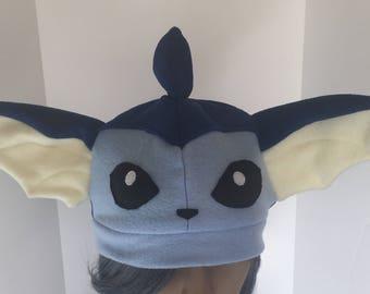 Vaporeon Fleece Cosplay Pokemon Hat
