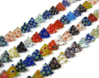 10mm Millefiori Butterfly Beads in Assorted Colors Set of 25