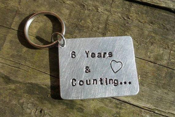Year anniversary gifts keyring keychain th wedding gift tin