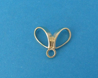 Butterfly Style Necklace Bail - 14k Yellow Gold